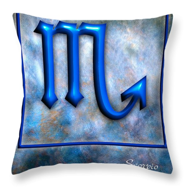 Scorpio Throw Pillow by Mauro Celotti