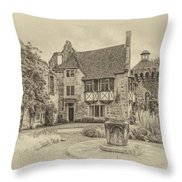 Scotney Castle Throw Pillow by Chris Thaxter