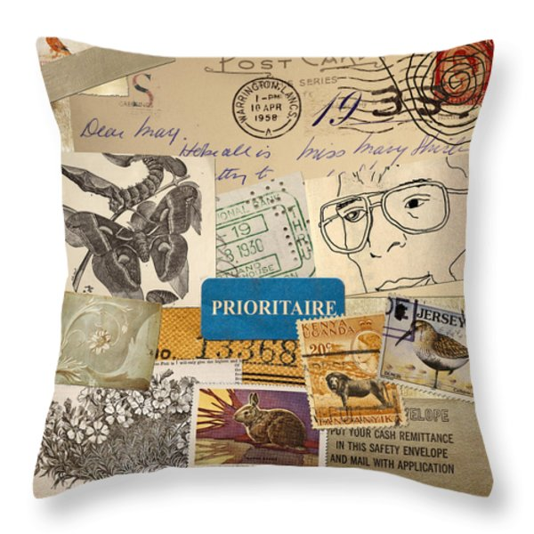 Scrapbook Page Number 2 Throw Pillow by Carol Leigh