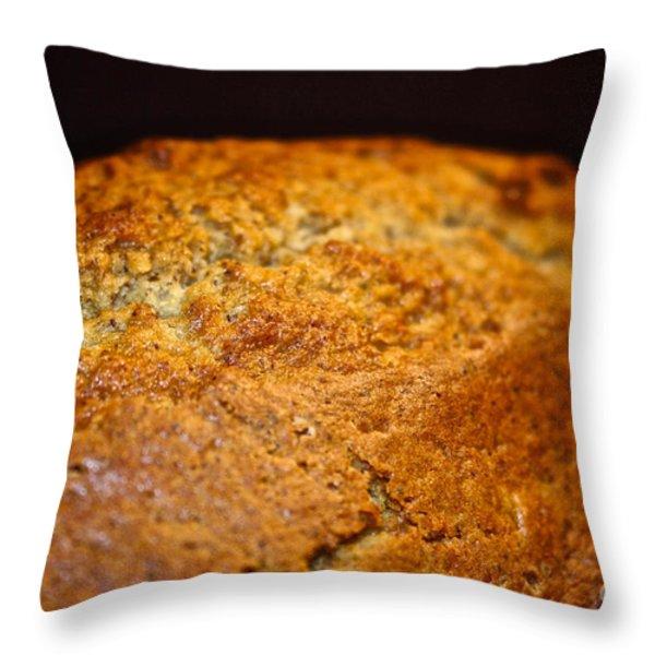 Scratch Built Bread Throw Pillow by Susan Herber