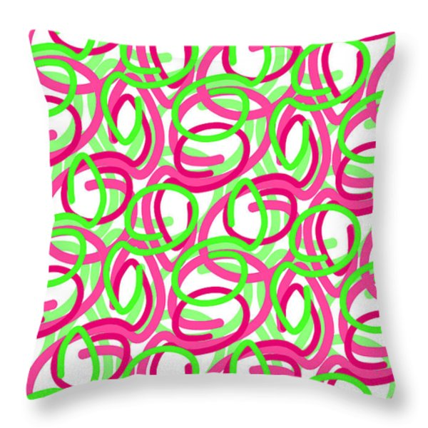 Scroll Throw Pillow by Louisa Knight