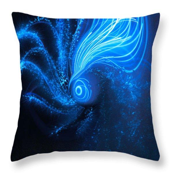 Sea At Night Throw Pillow by Linda Sannuti