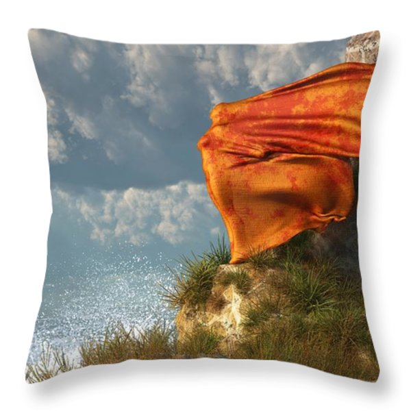 Sea Breeze Butterfly Throw Pillow by Daniel Eskridge