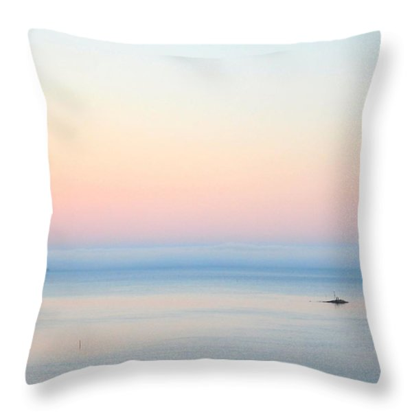 Sea fog Throw Pillow by Sonya Kanelstrand