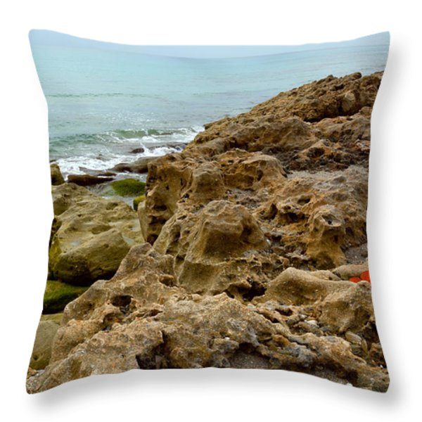 Sea Grape Throw Pillow by Michelle Wiarda