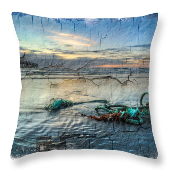 Sea Knot Throw Pillow by Debra and Dave Vanderlaan
