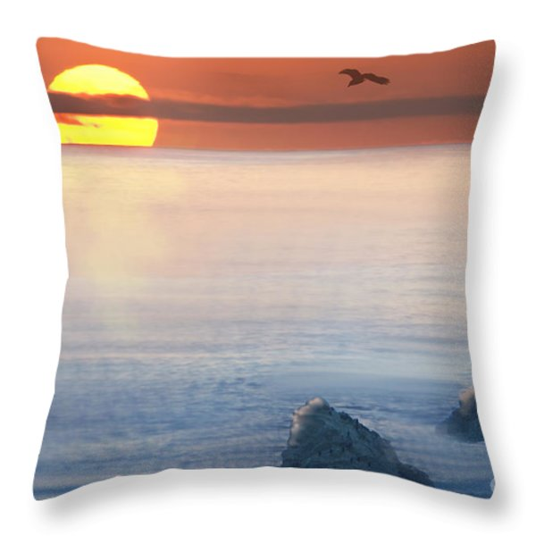 Sea Magic Throw Pillow by Betty LaRue