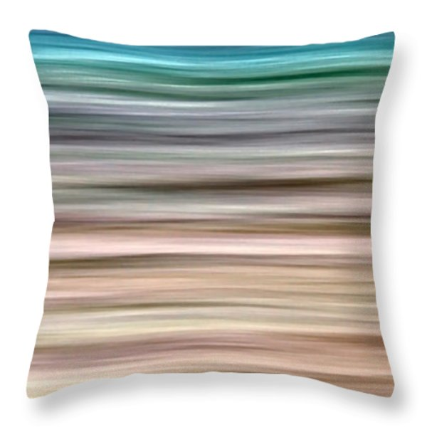 sea movement Throw Pillow by Stylianos Kleanthous