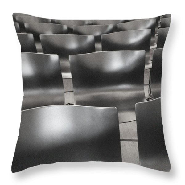 Sea Of Seats I Throw Pillow by Anna Villarreal Garbis