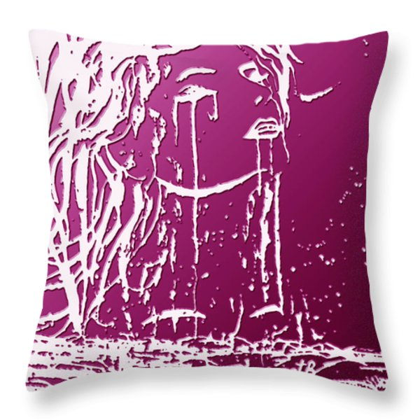Sea Spirit  Throw Pillow by Costinel Floricel