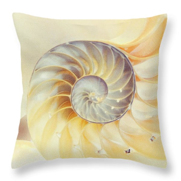 SeaShell. Light Version Throw Pillow by Jenny Rainbow