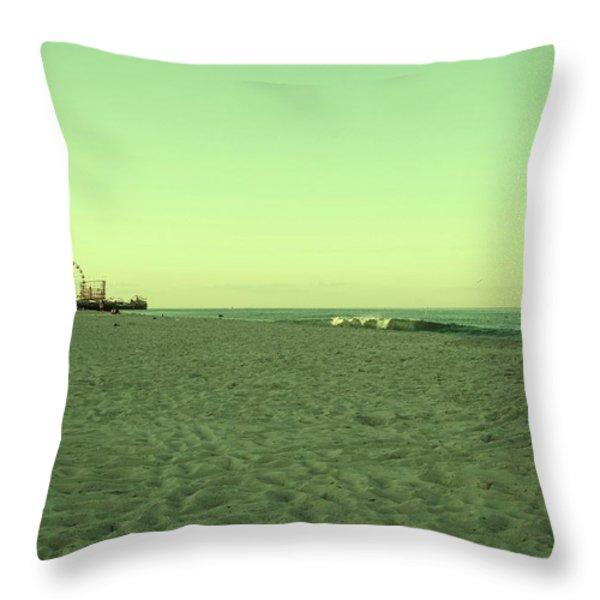 Seaside Park II - Jersey Shore Throw Pillow by Angie Tirado