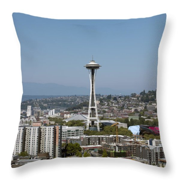 Seattle: Cityscape, 2009 Throw Pillow by Granger