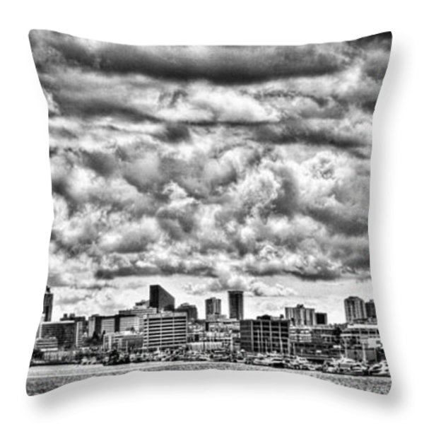 Seattle Cityscape II Throw Pillow by David Patterson