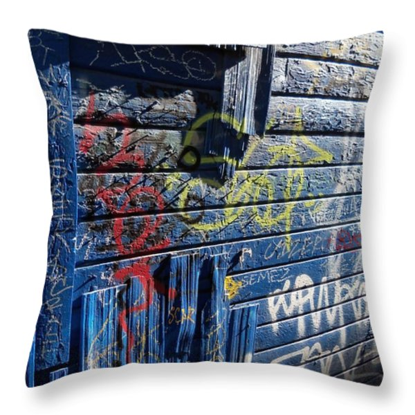 Seattle Graffiti Throw Pillow by Randall Weidner