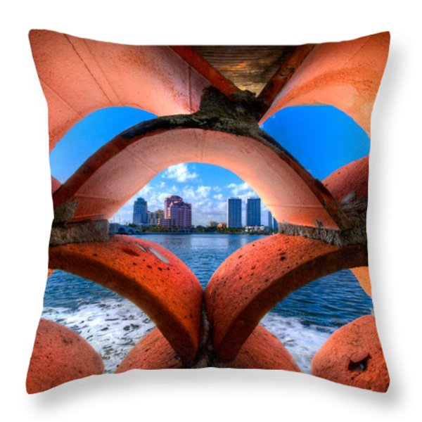 Secret Keyhole Throw Pillow by Debra and Dave Vanderlaan