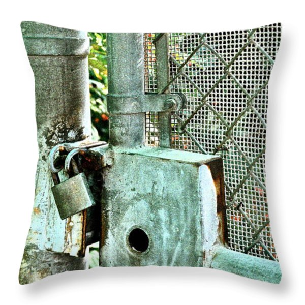 Secure Throw Pillow by Gwyn Newcombe