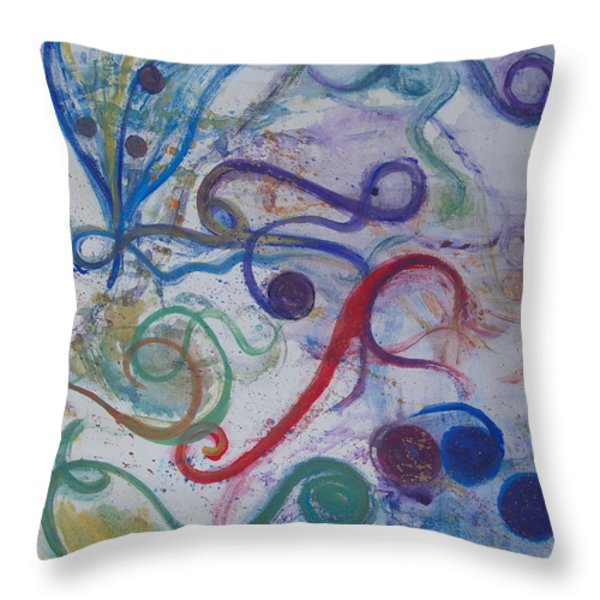 Seedpods In A Breeze Throw Pillow by Claudia Smaletz