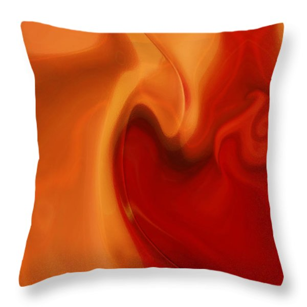 Sensual Love Throw Pillow by Linda Sannuti