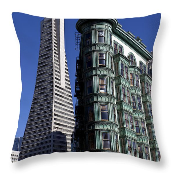 Sentinel Building San Francisco Throw Pillow by Garry Gay