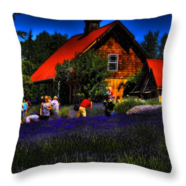 Sequim Lavender Throw Pillow by David Patterson
