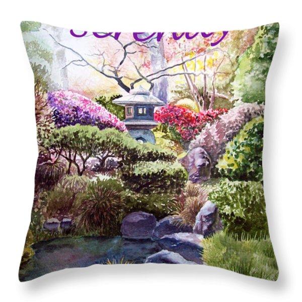 Serenity Throw Pillow by Irina Sztukowski