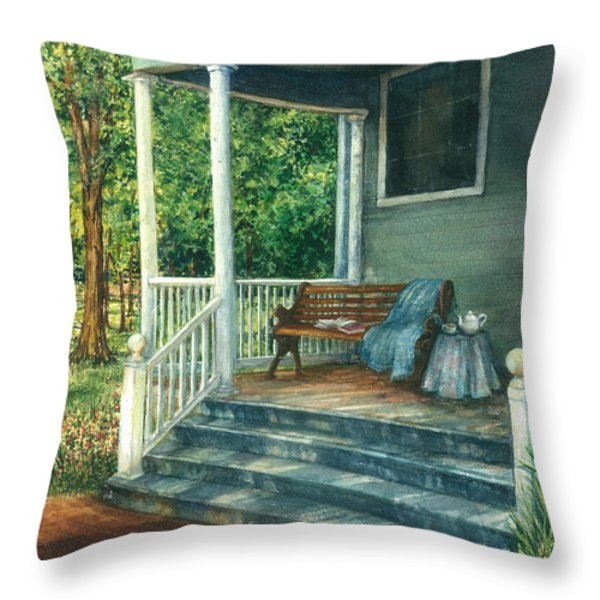 Serenity Throw Pillow by Sher Sester