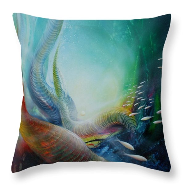 Serpula Spiralis Throw Pillow by Drazen Pavlovic