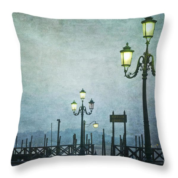 Servizio Gondole Throw Pillow by Marion Galt