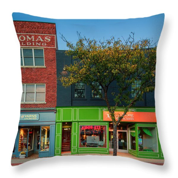 Sewickley 3 Throw Pillow by Emmanuel Panagiotakis