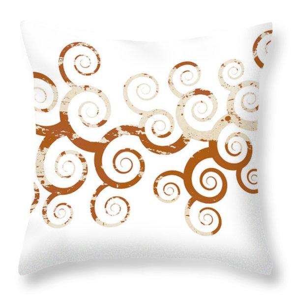 Shabby Ornament Throw Pillow by Frank Tschakert