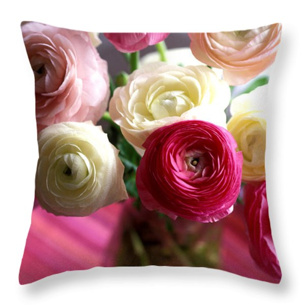 Shades of Pink Throw Pillow by Kathy Yates