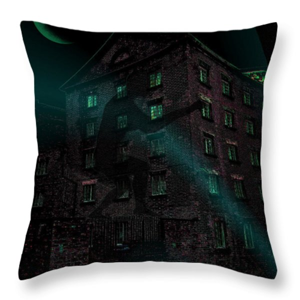 Shadow On The Wall Throw Pillow by Mimulux patricia no