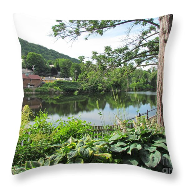 Shelburne Falls Throw Pillow by Randi Shenkman