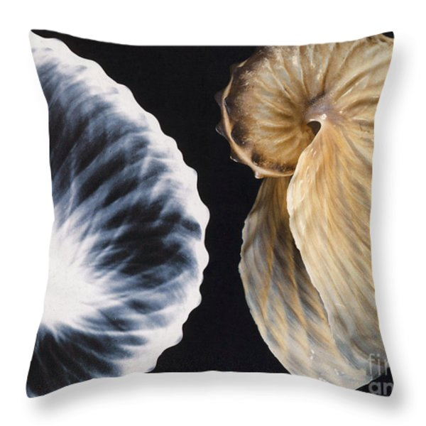 Shell X-ray Throw Pillow by Photo Researchers