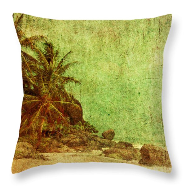 Shipwrecked Throw Pillow by Andrew Paranavitana