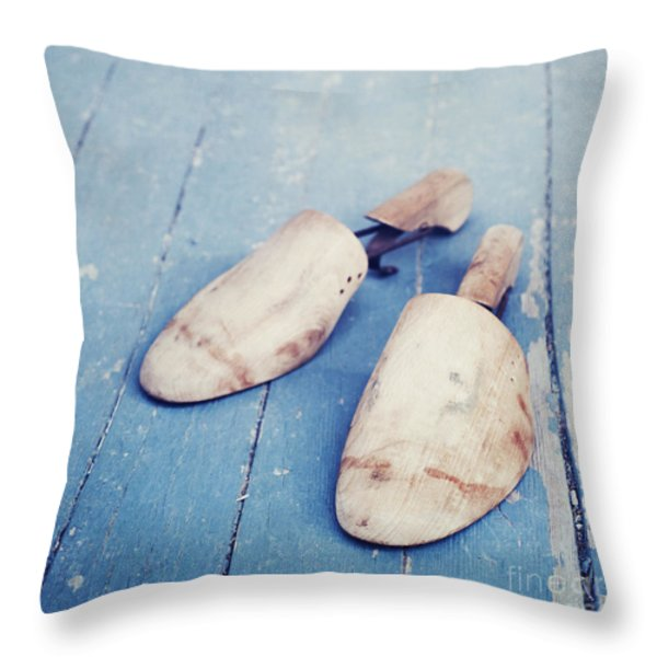 shoe trees II Throw Pillow by Priska Wettstein