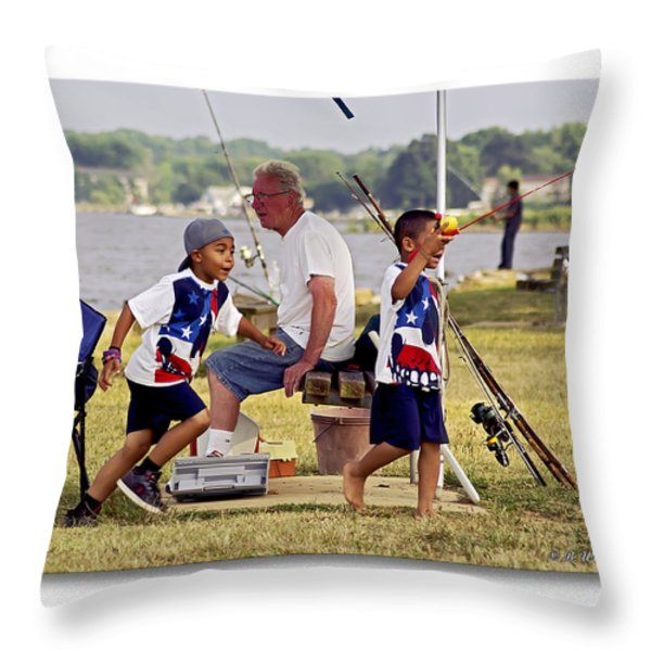 Show Grand-mom  Throw Pillow by Brian Wallace