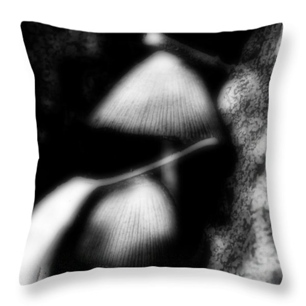 Shroom Magic Throw Pillow by Mimulux patricia no