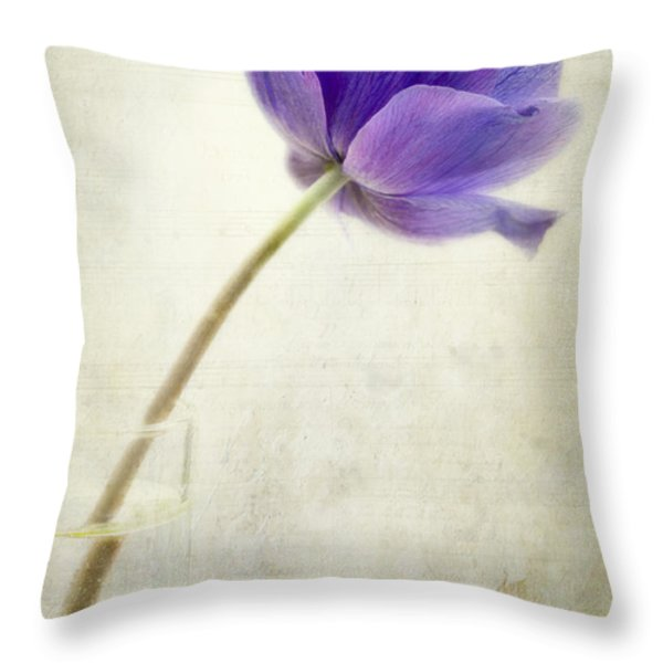 Shy Anemone Throw Pillow by Marion Galt