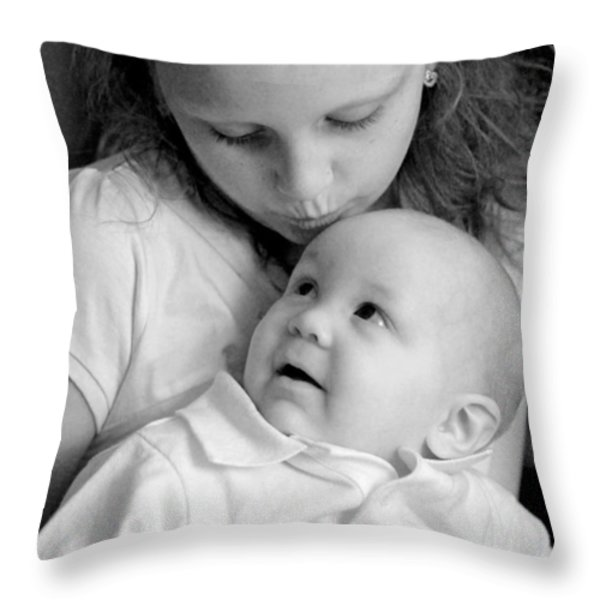 Sibling Love Throw Pillow by Lisa  Phillips