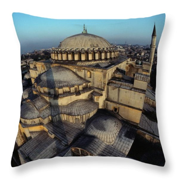 Side Domes And Minarets Gather Throw Pillow by James L. Stanfield