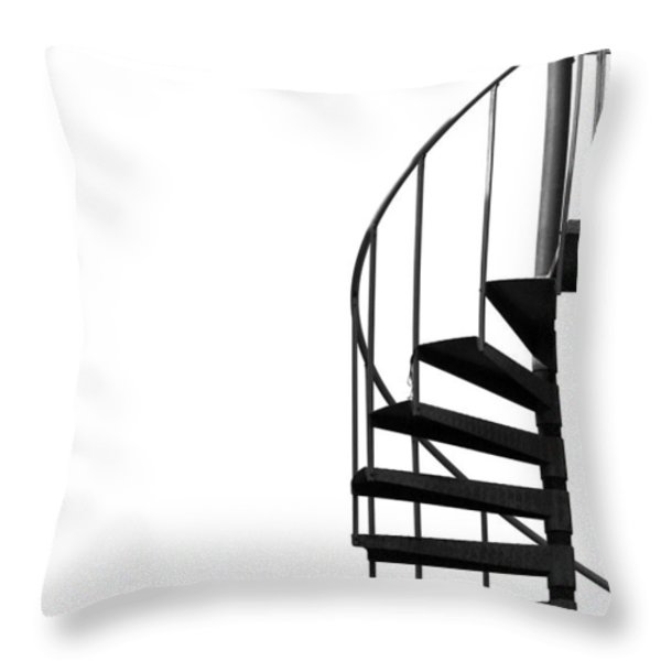 Side Entrance Throw Pillow by Evelina Kremsdorf