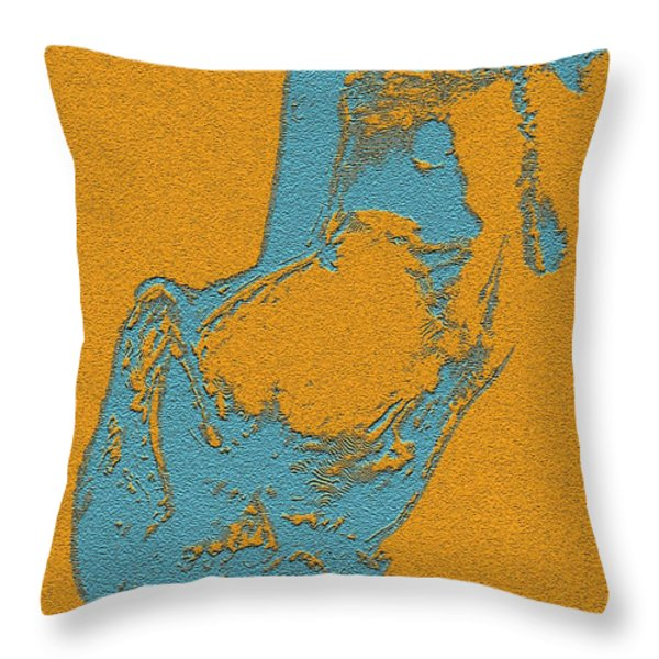 Side Posed Throw Pillow by Piety Dsilva