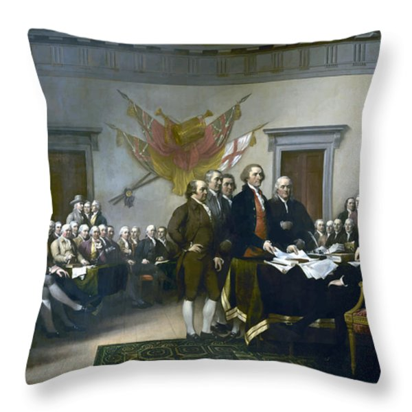 Signing The Declaration Of Independance Throw Pillow by War Is Hell Store