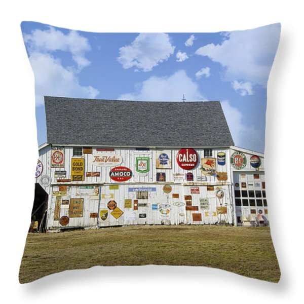 Signs Of The Times Throw Pillow by Brian Wallace