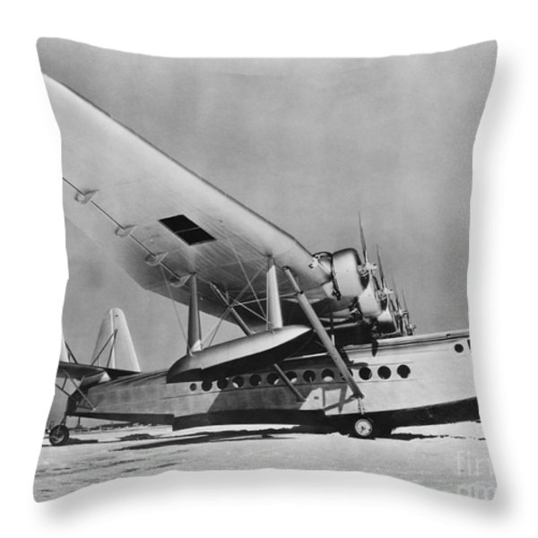 Sikorsky S-42 Throw Pillow by Photo Researchers