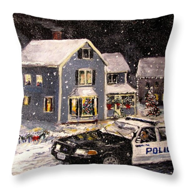 Silent Knight Throw Pillow by Jack Skinner