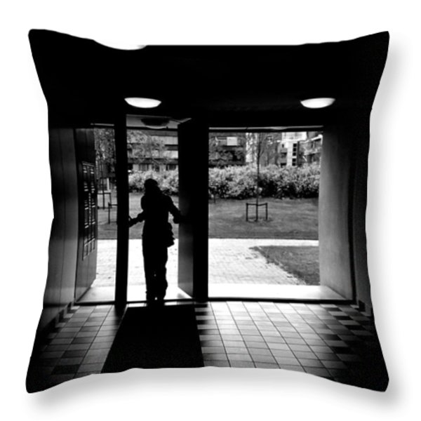 Silhouette Of A Man Throw Pillow by Fabrizio Troiani