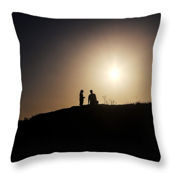 silhouettes Throw Pillow by Joana Kruse